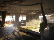 Kizingo, lodge, bed, interior